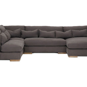 Carrell 4-Piece Sectional, Charcoal, Sectionals