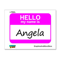Angela Hello My Name Is Sticker
