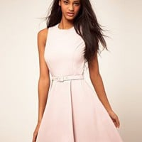 ASOS | ASOS Fit n Flare Dress With Belt at ASOS