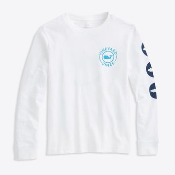 Boys Long-Sleeve Striper Whale T-Shirt