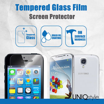 Tempered Glass Film Screen Protector for iPhone 6, iPhone 6 Plus, iPhone 4/4s/5/5s/5c, Samsung S3,S4,S5 - 0.33mm anti-scratch screen guard