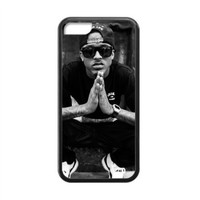 CTSLR Laser Technology August Alsina TPU Case Cover Skin for Cheap Apple iPhone 5C-1 Pack- Black - 1