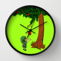Link Zelda with an apple tree Wall Clock by Three Second | Society6