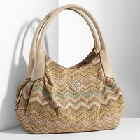 Simply Vera Vera Wang Woven Zigzag Triple-Entry Hobo