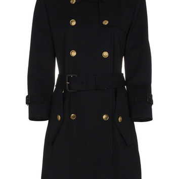 Givenchy Double Breasted Cotton Trench Coat - Farfetch
