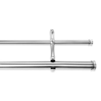 Cambria® Premier Complete Double Drapery Rod in Polished Nickel
