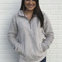 Fleece Pullover Sweater - Grey