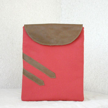 iPad Case iPad padded sleeve flap leather by HelloVioleta on Etsy