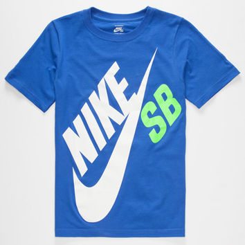 Nike Sb Big Logo Boys T-Shirt Royal  In Sizes