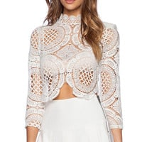 ASILIO White Walls Crop Top in White