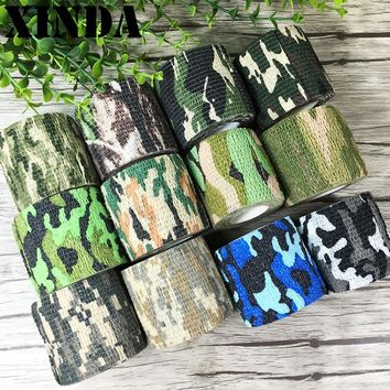 Waterproof Camo Duct Tape Gun Hunting Camping Camouflage Stealth Tape Wrap Prevent From Scratches Slippage On Rocks FY0090