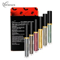 niceface New Waterproof Liquid Eyeshadow Makeup Sets Single Color Pigments Shimmer Metallic Eye Shadow Kits for Halloween