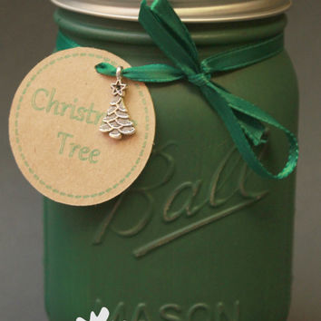 Christmas Tree / Mason Jar Candle / Christmas Tree Soy / Christmas Tree Scent / Scented Soy Candle / Evergreen / Gift Idea/Housewarming Gift