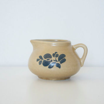 Small ceramic pitcher in the Folk Art pattern by by SCAVENGENIUS