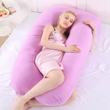 New Sleeping Support Pillow For Pregnant Women Body Cotton Pillowcase U Shape Maternity Pillows Pregnancy Side Sleepers Bedding