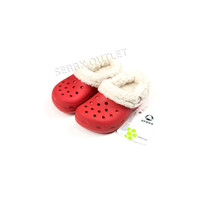 Crocs Mammoth Clogs Red / Oatmeal Shoes