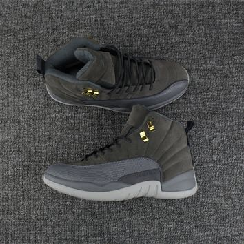 Air Jordan 12 Retro AJ12 Cool Gray Men Basketball Shoes