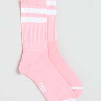 PASTEL PINK STRIPED TUBE SOCKS - Topman