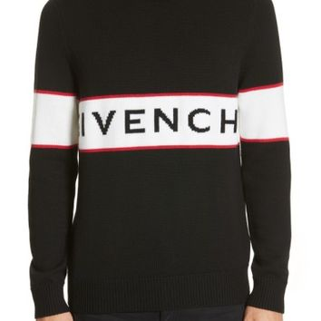 Givenchy Logo Band Wool Sweater | Nordstrom
