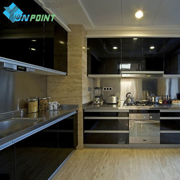 Modern Kitchen Cupboard DIY Black Wallpaper Roll Self adhensive Vinyl Wallpaper Furniture Stickers Decorative Film Contact Paper