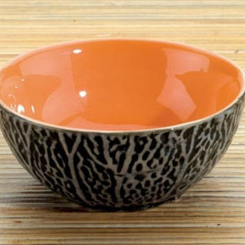 Cantaloupe Ceramic Dipping Bowl, Set Of 2 - 3.5W
