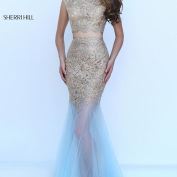 Two-Piece Beaded Gown by Sherri Hill