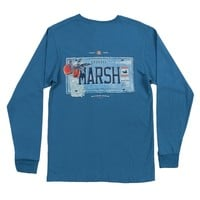 Long Sleeve Georgia Backroads Collection Tee in Slate by Southern Marsh