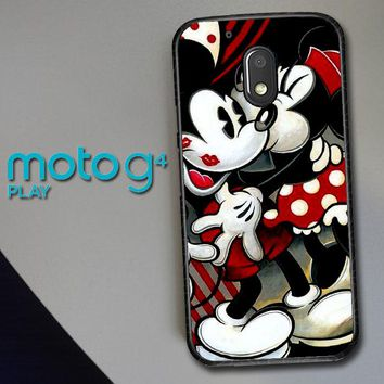 Hugs And Kisses  Mickey Minnie Mouse Z1557 Motorola Moto G4 Play Case