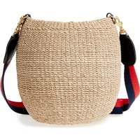 Clare V. Pot de Miel Top Handle Straw Basket Bag | Nordstrom