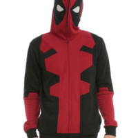 Marvel Deadpool Costume Full Zip Hoodie