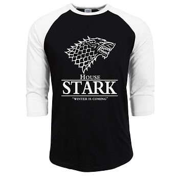 bodybuilding House Stark T Shirts for Men Shirt an Ice Song and The Winter Is Coming To Fire Man T-shirt 2017 summer autumn