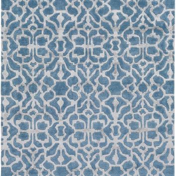 Surya Waldorf Medallions and Damask Blue WAR-1003 Area Rug