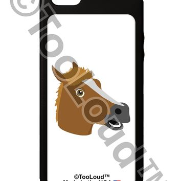 Silly Cartoon Horse Head iPhone 5C Grip Case  by TooLoud