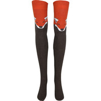 Fox Over The Knee Socks in Heather Brown