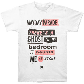 Mayday Parade Men's  Ghosts Lyric T-shirt White Rockabilia