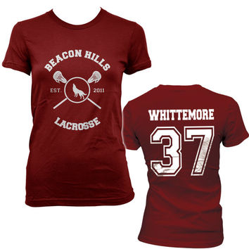 Whittemore 37 Beacon Hills Lacrosse Teen Wolf Women Tshirt tee