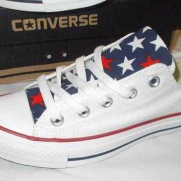 DCCKHD9 4th of July Converse Shoes