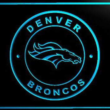 B196-Denver Broncos Football LED Neon Light Sign home decor crafts