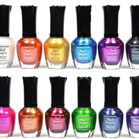 12 PC SET Metallic Full Size Lacquer Nail Polish