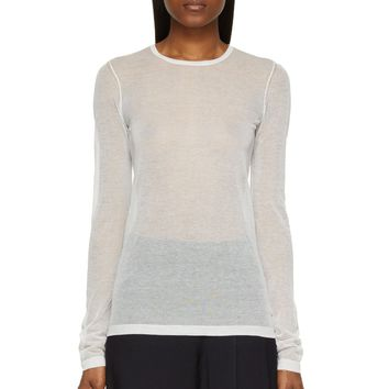 Marc By Marc Jacobs White Sheer Sofia Sweater