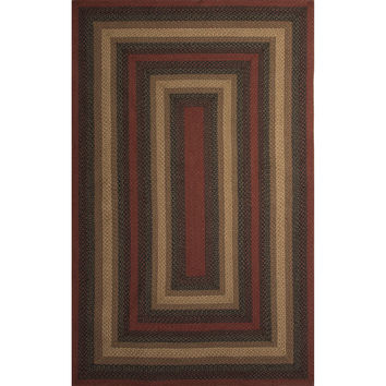 Jaipur Rugs Braided Solid Pattern Black/Red Jute and Polyester Area Rug HBR08 (Rectangle)