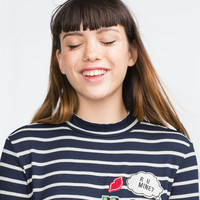 PATCH AND STRIPES T-SHIRT