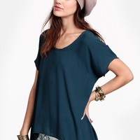 Too Stoked Chiffon Blouse