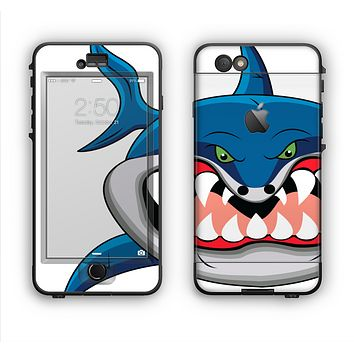 The Hungry Cartoon Shark Apple iPhone 6 Plus LifeProof Nuud Case Skin Set