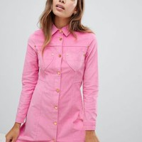 Lazy Oaf pink velvet dress at asos.com