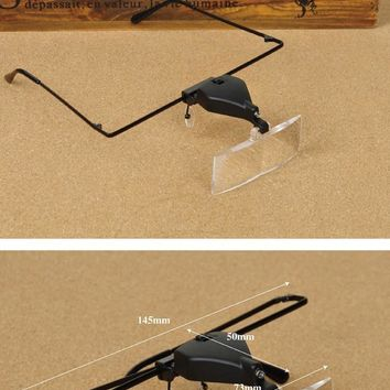 The Oily Essentials Headset Magnifying Glasses with LED Light  Zoom Magnifier