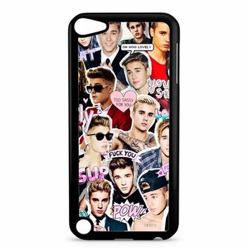 Justin Bieber Collage iPod Touch 5 Case