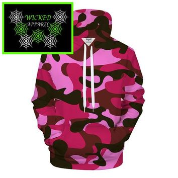 Wicked Apparel Pink Camo Hoodie #50