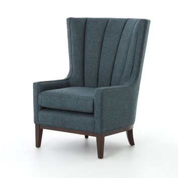 LILIAN WING CHAIR - CHESS PEACOCK