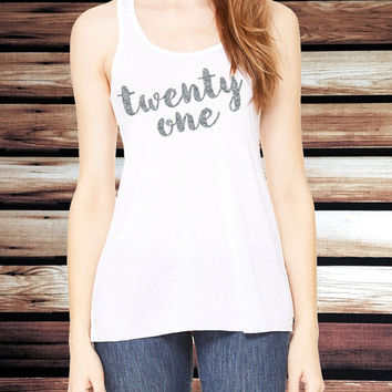 Twenty One Birthday Tank Top - 21st Birthday Tank Top - 21st Birthday Shirt